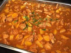 Pilaf (pilav) met kip, perzik, ketjap en rijst