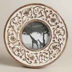 One of my favorite discoveries at WorldMarket.com: Whitewash Round Ramona Frame
