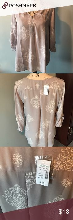 3/4 Sleeve Business Casual Blouse NEW with Tags! Maurices Tops Blouses