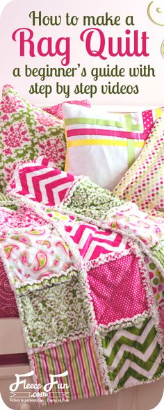 How To Make A Rag Quilt DIY, Easy Beginner's Tutorial (step-by0srep videos)…