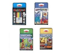 Amazon.com: Melissa and Doug On the Go Coloring Books Set of 4 (Boys) Water Wow Vehicles, Water Wow Animals, Color Blast Sea Life and Magic Velvet Dinosaurs: Toys & Games