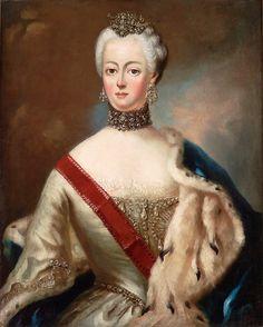 """""""Empress Catherine II of Russia"""" by Giovanni Battista Lampi (1751-1830)."""