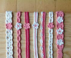 Diademas para Sara de #ganchillo @cristinacrea  Crochet bands for Sara by @cristinacrea
