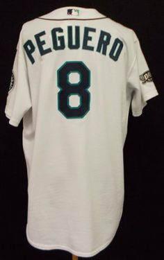 2011 Seattle Mariners Carlos Peguero  8Game Used White Home JerseyGreat  Game Used Jersey- Size 52 -Ideal for ... 4ccba35ae