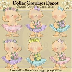 Ballerina In Training - Clip Art�- *DGD Exclusive* - $1.00 : Dollar Graphics Depot, Your Dollar Graphic Store
