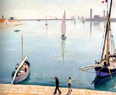 View LE PORT DE SETE By Albert Marquet; Access more artwork lots and estimated & realized auction prices on MutualArt. Impressionist Paintings, Landscape Paintings, Landscapes, Yacht Week, Art Moderne, Jolie Photo, Henri Matisse, French Artists, Lovers Art