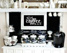 Shiplap Coffee bar sign | Etsy | 1000 Armoire Makeover, Furniture Makeover, Coffee Gift Baskets, Coffee Cabinet, Liquor Cabinet, Chalkboard Wall Bedroom, Bar Drinks, Beverage, Coffee Bar Signs