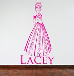 Anna from the Disney Film - Frozen Wall Sticker/Decal - available in a great range of colours!