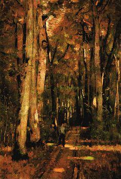László Paál: Forest Road near Fontainebleau Impressionist Paintings, Landscape Paintings, Landscapes, Forest Road, Artist Painting, Original Art, Sculptures, Museum, Tours