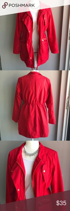 Red Bebe jacket! In great condition! 10% off bundle of 3 or more. Make me an offer. No trades. Smoke free home. ❤️😄 Jackets & Coats