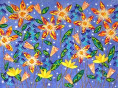 """Radiant Garden"" by Lisa Frances Judd. Paintings for Sale. Bluethumb - Online Art Gallery"