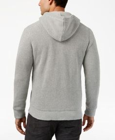 INC Men's Zip-Front Hoodie with Faux Fur Lining, Created for Macy's - Black XXL