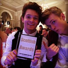 """""""A massive thanks to all 50k people that voted for Con - winner of the Scottish fashion icon of the year award  #SFA10Years """""""