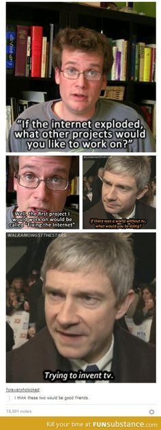 Hahaha they would - though Martin would definitely help dapper up John.