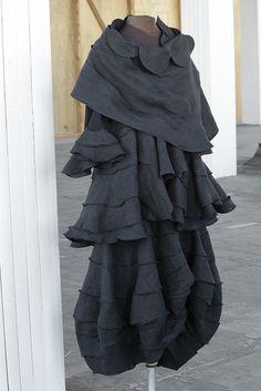 a skirt, with a dress, with a wrap. linen. By Secret Lentil.