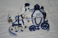 Royal Carriage Blue and White with gold trimming by Castawayacres, $20.00