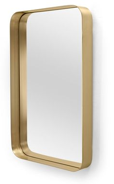 Alana Rectangular Mirror, Brass Love a brassy finish? It works with light and dark walls, as well as traditional and modern decor. No matter the look you're going for, you'll find it in this mirror. Architecture Restaurant, L Wallpaper, Brass Mirror, Mirror Glass, Spiegel Design, Traditional Decor, Beautiful Bathrooms, My Living Room, Light In The Dark