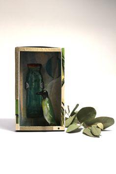 Art box:petit diorama réalisé dans une boîte d'allumette.