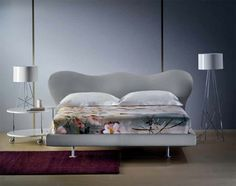 """Success is a matter of """"shapes"""": like the head of our """"Marilyn"""" bed by Flou…"""