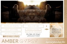 Amber Gypsy Blog Kit by Coral Antler Creative on @creativemarket
