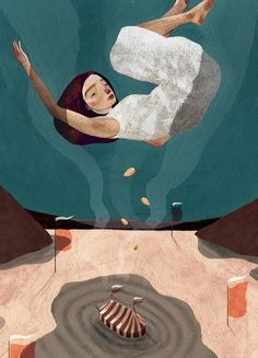 Bristol, UK-based artist and illustrator Owen Gent creates whimsical yet melancholy works that feature characters navigating a surreal world with a folkloric aesthetic. With water as a recurring mo… Illustration Arte, Illustrations, Guache, Cool Art, Awesome Art, Contemporary Art, Whimsical, Character Design, Sketches