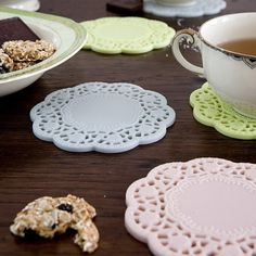 Rubber Lace Coasters