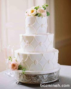 کیک عروسی به سبک و استایل وینتج