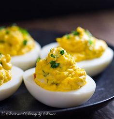 These creamy, rich lobster deviled eggs are loaded with tender lobster meat and flavored with rich homemade lobster broth. Flavor bomb!