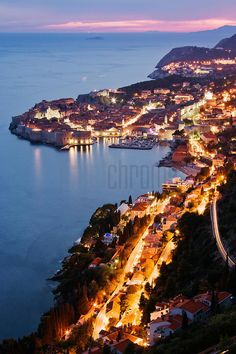 Dusk in Dubrovnik, Croatia