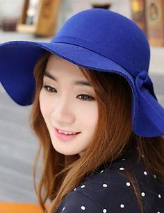 cd36c7de6fdd3   10.19  Women s Vintage Wool Bucket Hat-Solid Colored Fuchsia Camel Royal  Blue