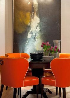 Orange inspiration, chairs