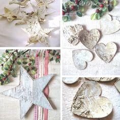 seidenfein 's Dekoblog: ... klitzekleine Adventsdeko ! ... a realy little christmasdecoration! Birke