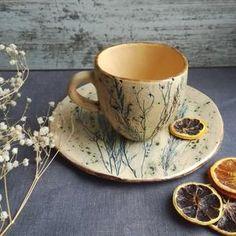Thee paar bonte gras. Keramiek en aardewerk. | Etsy Pottery Mugs, Ceramic Pottery, Ceramic Art, Thrown Pottery, Slab Pottery, Ceramic Bowls, Cerámica Ideas, Keramik Design, Kitchenware