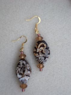 Earthy Exotic  Earrings by LostTreasuresLLC on Etsy, $3.40