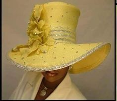 Satin hat accented with flowers and stones. 7-10 business days to complete order.
