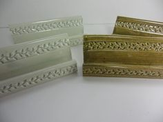 Vine Textured Business Card Holder by SuePatrickPottery on Etsy, $8.00 - Wake Forest Potter