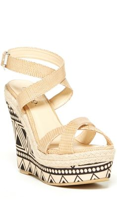 Tribal Wedge Sandals ♥