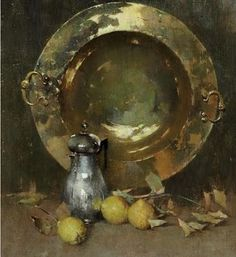 The Athenaeum - Still Life with Brazier, Silver Tea, and Onions (Emil (Soren Emil) Carlsen - ) Paintings I Love, Beautiful Paintings, Figure Painting, Painting & Drawing, Classical Realism, Theme Nature, Still Life Fruit, Still Life Oil Painting, Copper Art