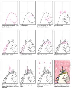 art drawings Given the current unicorn craze, I thought Id pull out this project from my Valentine Drawing eBook so teachers could try out one of my tutorials. Art Drawings For Kids, Easy Drawings, Art For Kids, Crafts For Kids, Easy Drawing For Kids, Drawing Ideas Kids, How To Draw Kids, Easy Crafts, Drawing Lessons For Kids