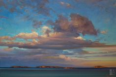 Winchelsea Evening Sky by Brent Lynch 24 x 36 Oil on Canvas