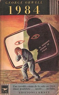 Today marks George Orwell's birthday. To celebrate, we have compiled a visual history of the publication of one of his most influential works, Though 1984 has come and gone with little in the way of Big Brother (although we suppose it… Book Cover Art, Cover Pages, Book Cover Design, Book Design, Book Covers, George Orwell Frases, Orwell 1984 Quotes, Dystopian Society, Nineteen Eighty Four