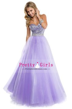 Ball Gown Dresses Sweetheart A-line Tulle Floor-length With Beads