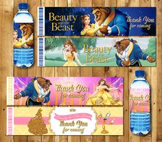 Beauty and the Beast party Package, beauty and the beast invitations, Baner, beauty and the beast party, Bella Cupcake toppers Beauty And The Beast Party, Belle Beauty And The Beast, Quinceanera Favors, Snow White Birthday, Prom Themes, 40th Birthday Parties, Party Packs, Princess Party, Birthday Decorations