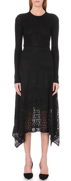proenza-schouler - Asymmetric open-knit skirt