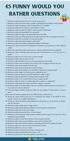 Questions To Get To Know Someone, Would You Rather Questions, Fun Questions To Ask, Funny Questions, Getting To Know Someone, Get To Know Me, Interesting Questions To Ask, This Or That Questions, Funny Icebreaker Questions