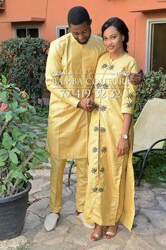 Top 17 Yoruba Demon Wears For First Class African Couples - WearitAfrica Couples African Outfits, African Dresses Men, African Clothing For Men, Couple Outfits, Nigerian Men Fashion, African Men Fashion, Africa Fashion, African Women, Ankara Fashion