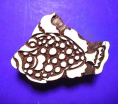 Fish Hand Carved Wood Stamp Textile Fabric Clay Pottery Indian   Etsy