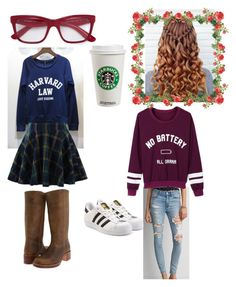 """""""Sweater day"""" by jesca27 on Polyvore featuring Dolce&Gabbana, American Eagle Outfitters, Frye, Chicwish, adidas Originals and WithChic"""