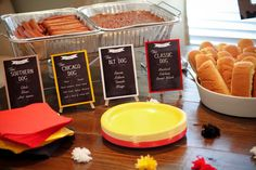 Carolina Charm Caroline's 2nd Mickey Mouse Birthday Party. Hot Diggity Dog Hot Dog Bar! Slow cooked hotdogs in the crockpot to serve a party.