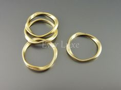 P1115MG BULK 12 pcs Matte gold plated twisted hoop by EverLuxe, $13.38